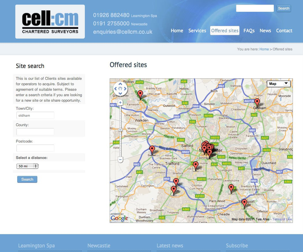 cell:cm Site Finder