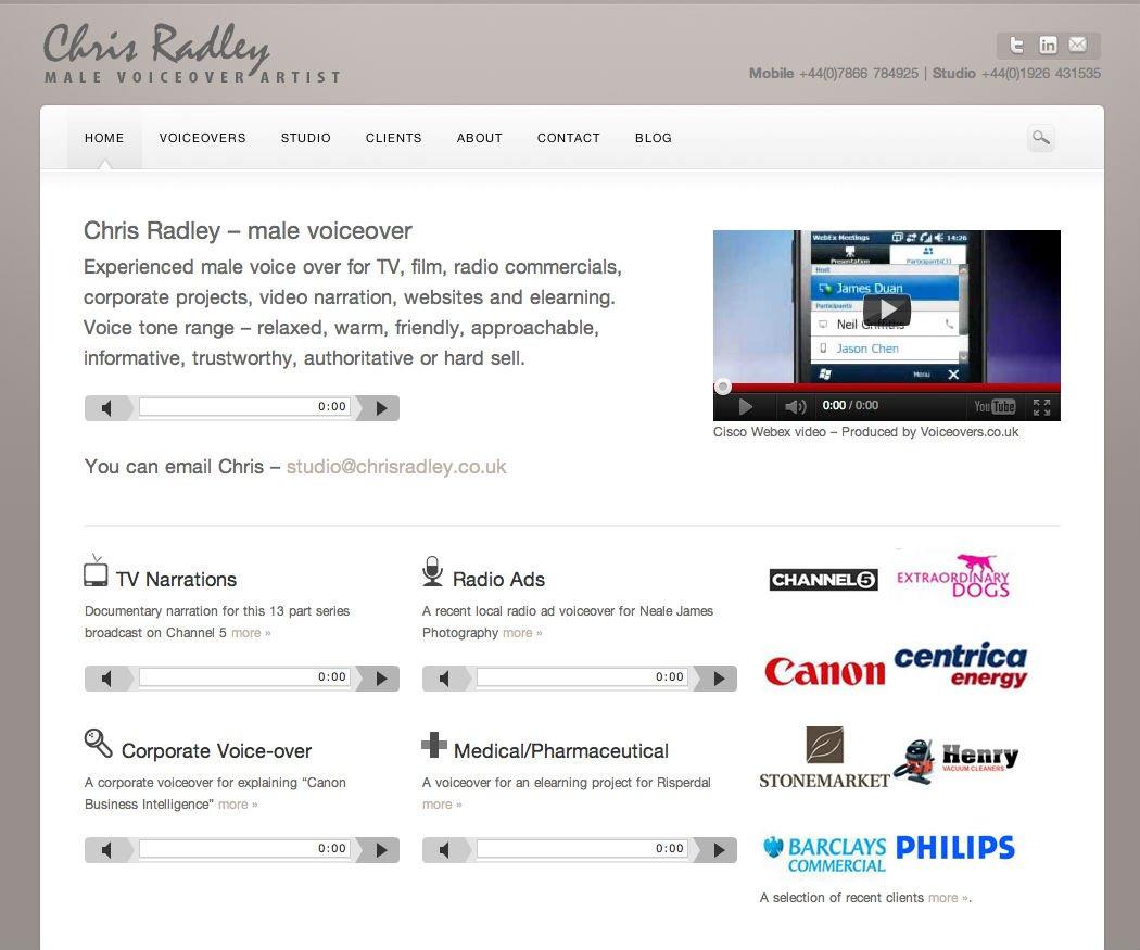 Chris Radley Wordpress website