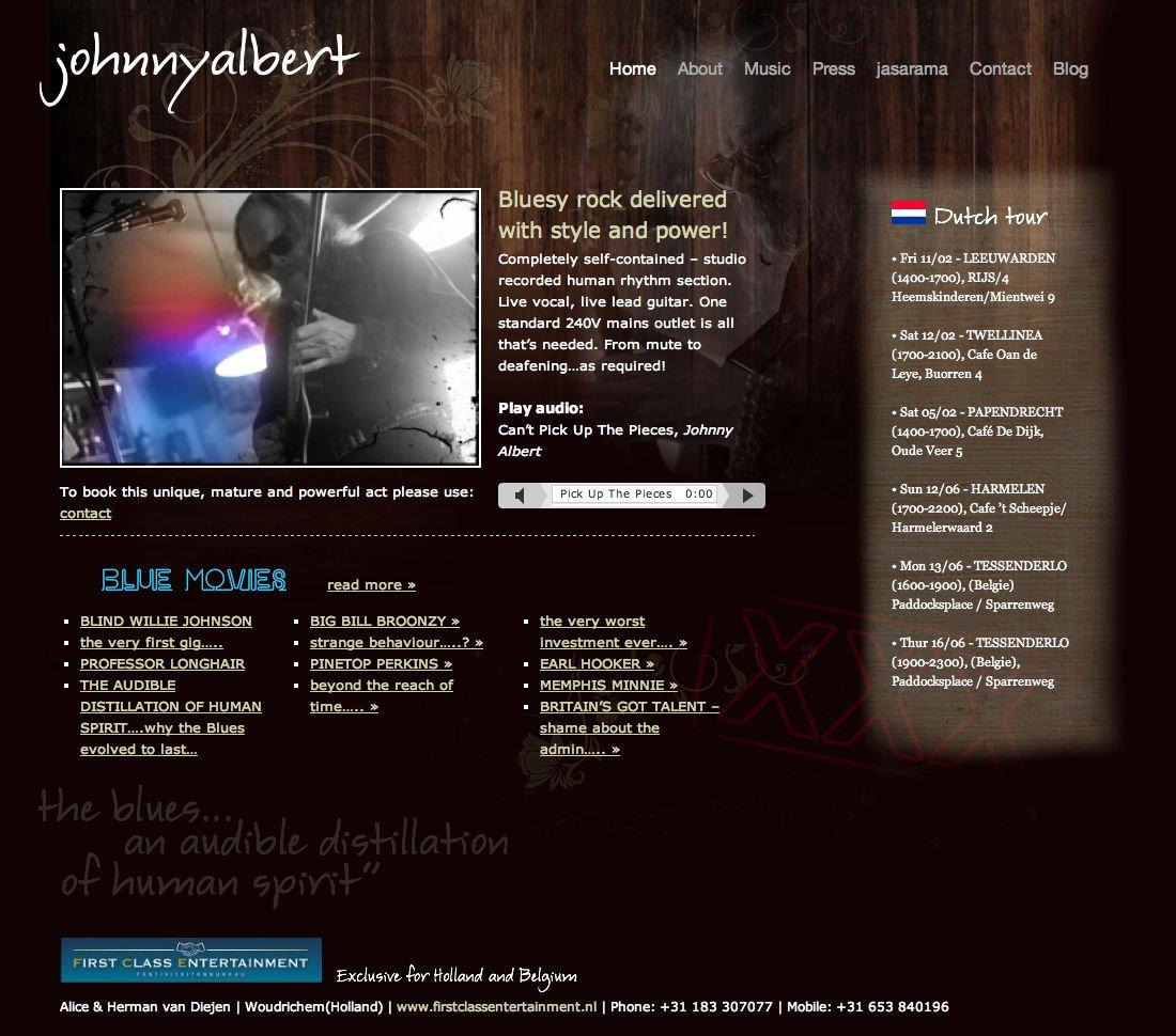 Johnny Albert Wordpress website