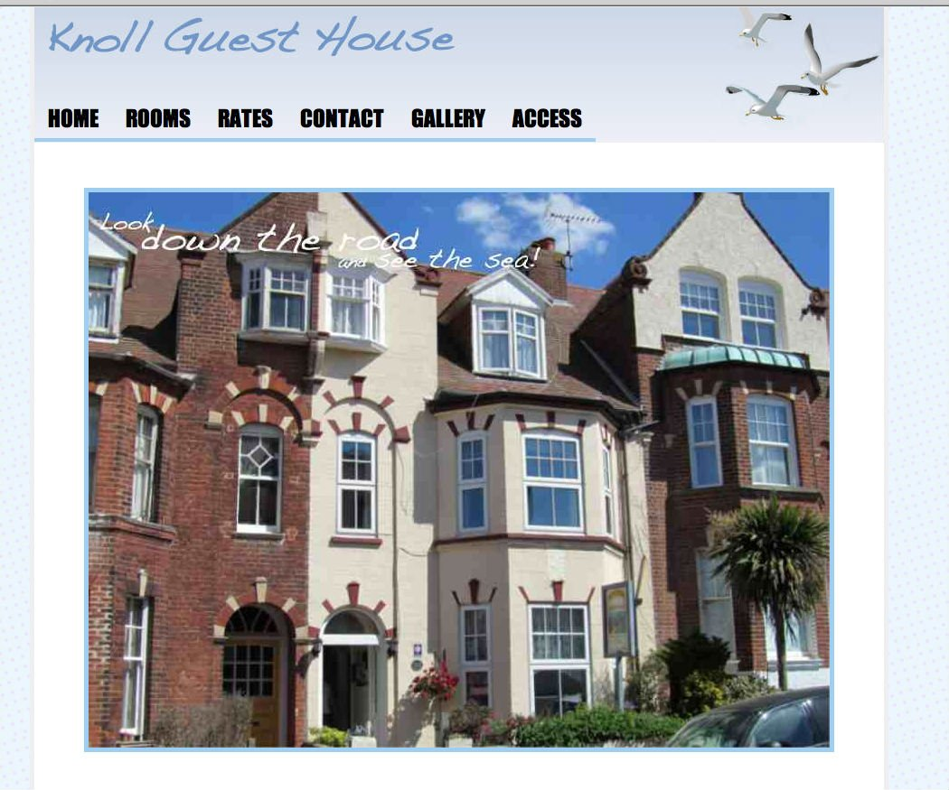 Knoll Guesthouse Wordpress website