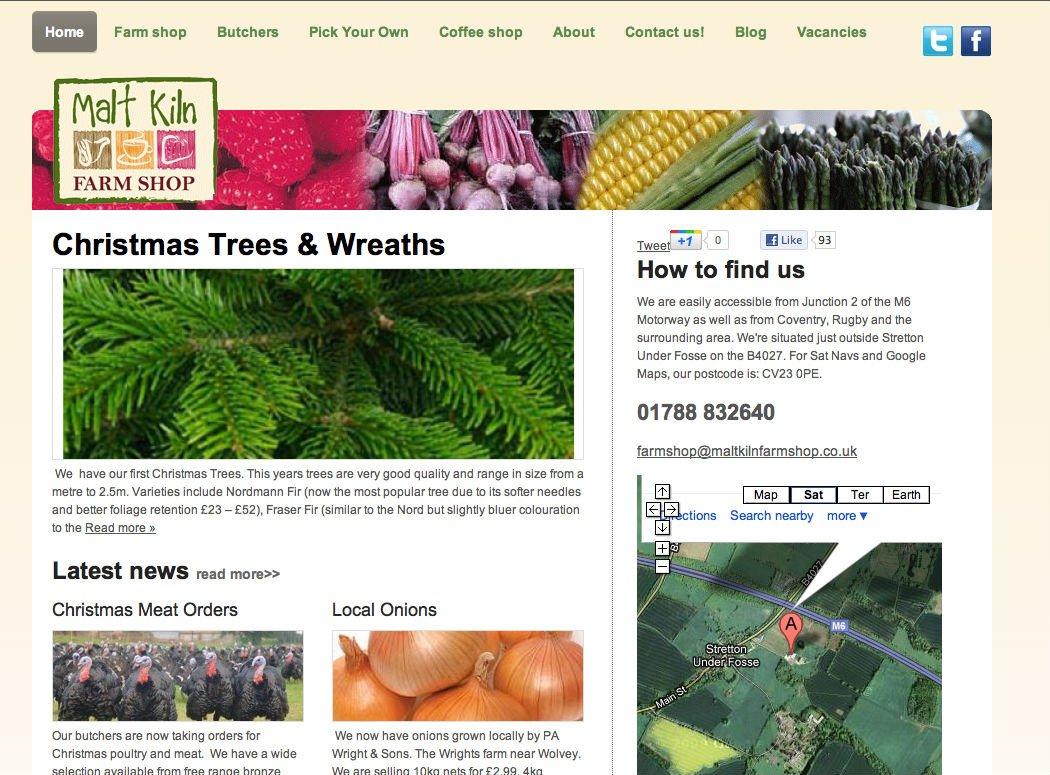 Malt Kiln Farmshop home page