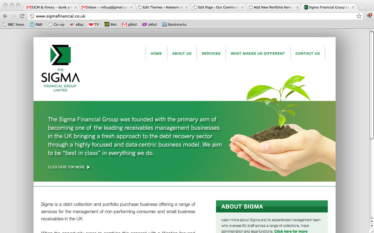 Sigma Financial home page