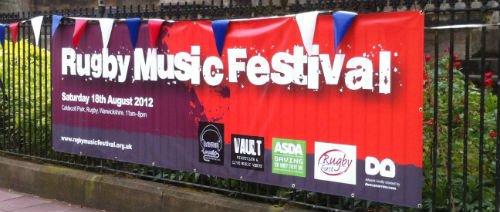 Street banner in situ