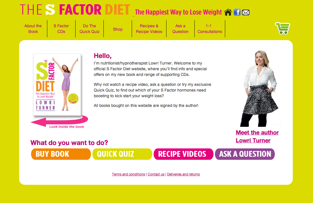 S Factor Diet home