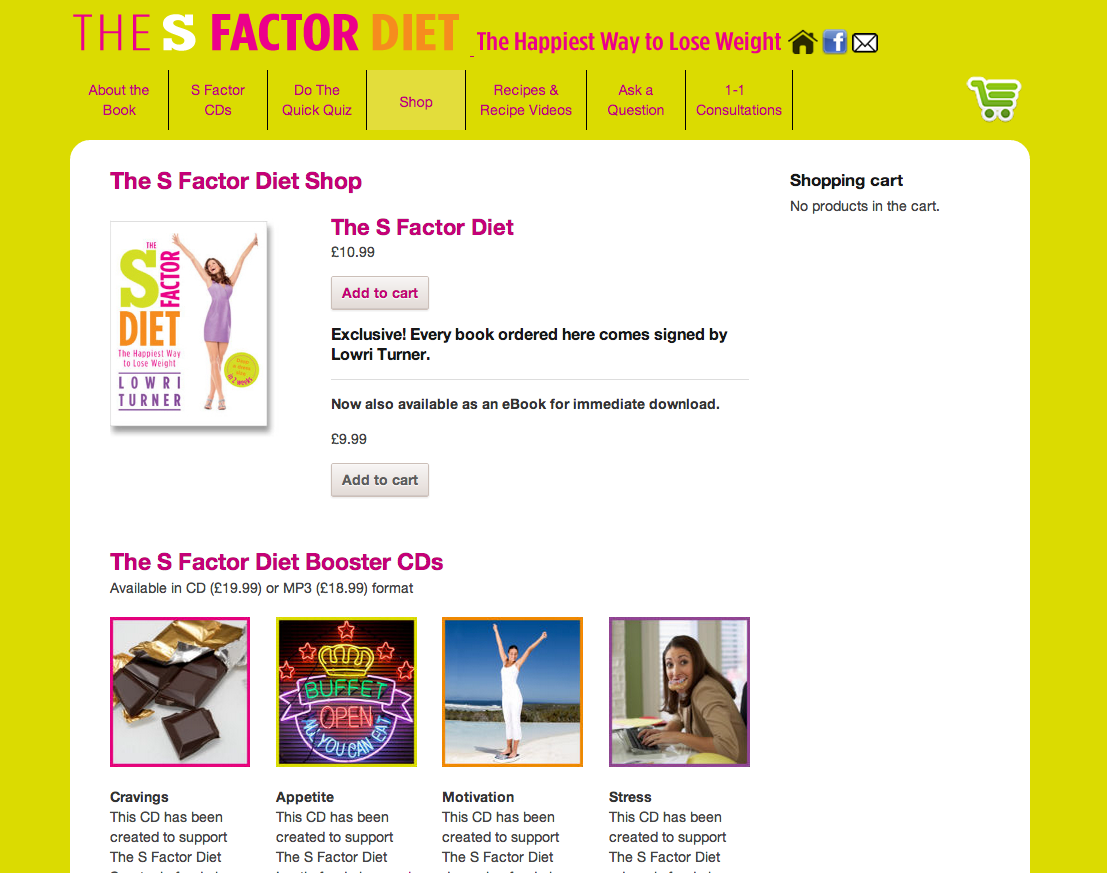 S Factor Diet Ecommerce